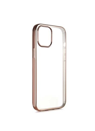 Benks Apple iPhone 12 Magic Glitz Ultra-Thin Transparent Protective Soft Case Altın